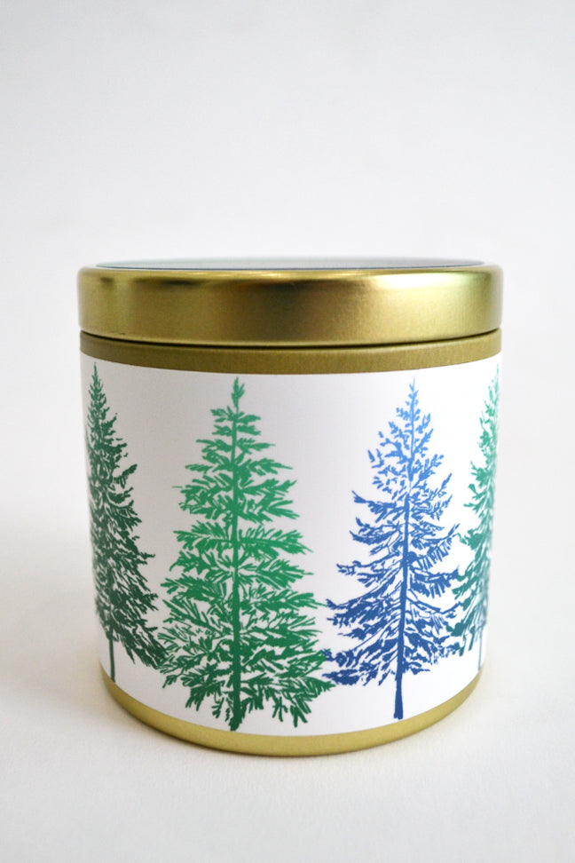 Tahoe Pines Tin Candle