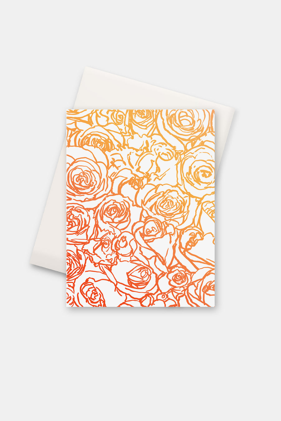 Orange Wall of Roses