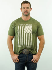 American By Birth, Cowboy By Choice - T-Shirt, Army Green Heather