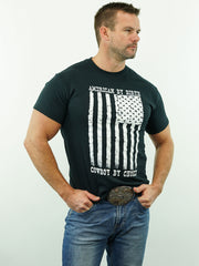 American By Birth, Cowboy By Choice - T-Shirt, Black