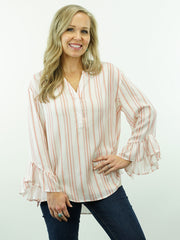 Cassidy - V-Neck, Bell Sleeve Top