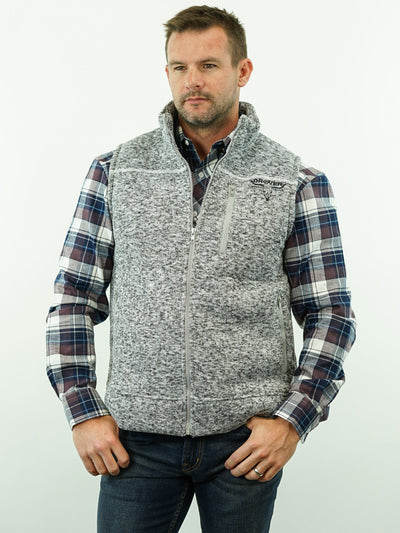 Drover, Fleece Lined Vest - Light Grey Heather