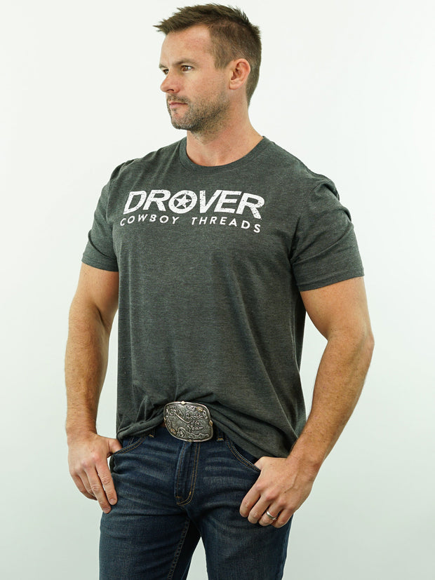 Drover Cowboy Threads - T-Shirt, Graphite Heather
