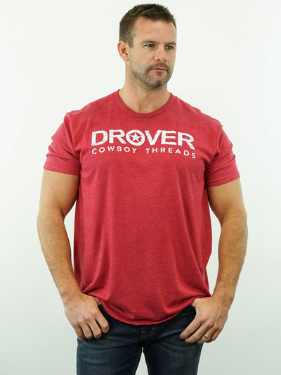 Drover Cowboy Threads - T-Shirt, Red Heather
