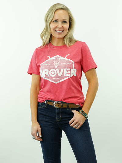 Drover Rope Badge - T-Shirt, Red Heather