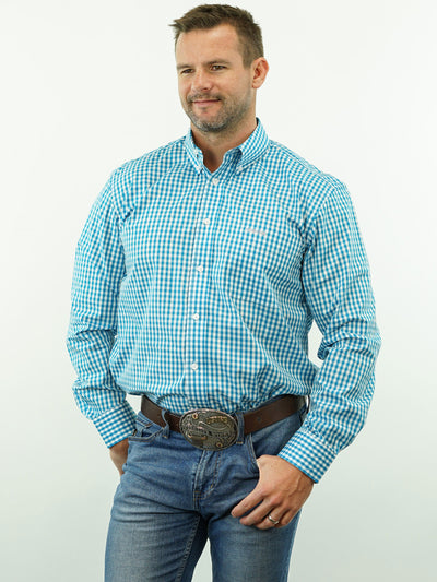 Lariat - Check, Option Cuff, Classic Fit Shirt