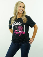 Okie Cowgirl - T-Shirt, Black
