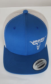 Yupoong, Snapback, Trucker Cap, Steel Blue with Silver Mesh