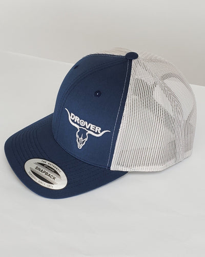 Yupoong, Snapback, Trucker Cap, Navy Blue with Silver Mesh