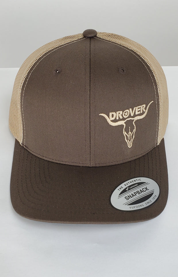 Yupoong, Snapback, Trucker Cap, Brown with Khaki Mesh
