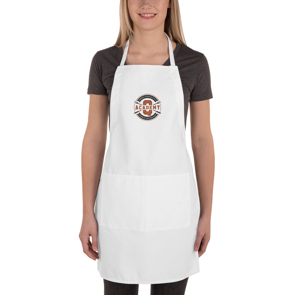 Academy of Q Embroidered Apron