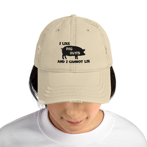 I Love Pig Butts Dad Hat