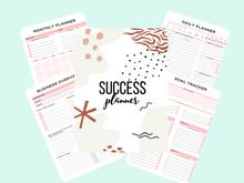 Load image into Gallery viewer, Success/Business Planner - Plan for Success - Printable - Motivational Printables