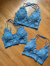 Load image into Gallery viewer, Floral Lace Periwinkle Bralette