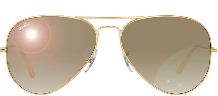 Ray-Ban RB 3025 001/3K Aviator Metal Gold Sunglasses with Brown Lens