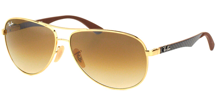 Ray-Ban RB 8313 001/51 Aviator Metal Gold Sunglasses with Brown Gradient Lens