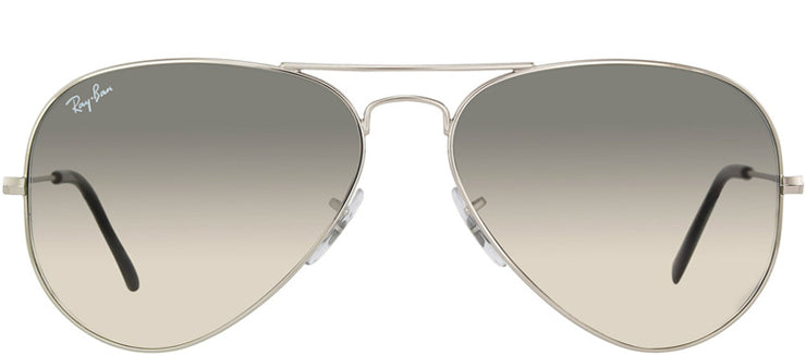Ray-Ban RB 3025 003/32 Aviator Metal Silver Sunglasses with Grey Gradient Lens