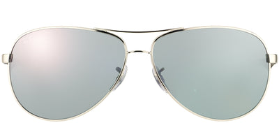 Ray-Ban RB 8313 003/40 Aviator Metal Silver Sunglasses with Grey Mirror Lens