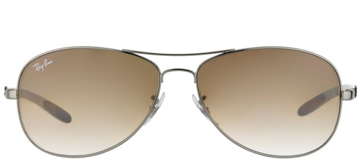 Ray-Ban Cockpit RB 8301 004/51 Aviator Carbon Fibre Ruthenium/ Gunmetal Sunglasses with Crystal Brown Gradient Lens