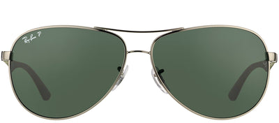 Ray-Ban RB 8313 004/N5 Aviator Metal Ruthenium/ Gunmetal Sunglasses with Grey Polarized Lens