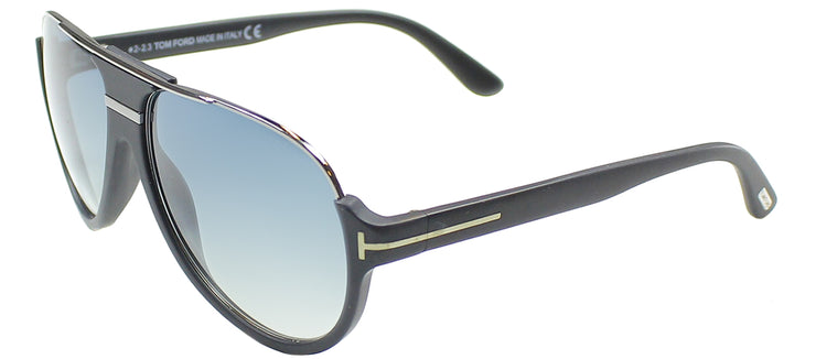 Tom Ford TF 334 02W Aviator Plastic Black Sunglasses with Blue Gradient Lens