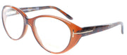 Tom Ford FT 5245 050 Cat-Eye Plastic Brown Eyeglasses with Demo Lens