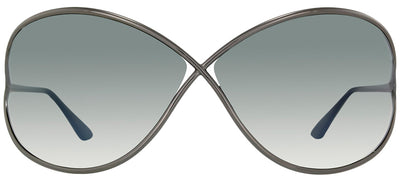 Tom Ford Miranda TF 130 08B Fashion Metal Ruthenium/ Gunmetal Sunglasses with Grey Gradient Lens