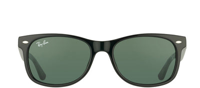 Ray-Ban Junior Jr RJ 9052 100/71 Wayfarer Plastic Black Sunglasses with Green Lens
