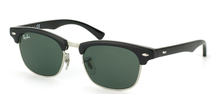 Ray-Ban Junior Jr RJ 9050 100/71 Clubmaster Plastic Black Sunglasses with Green Lens