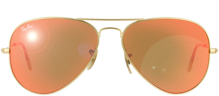 Ray-Ban RB 3025 112/69 Aviator Metal Gold Sunglasses with Red Mirror Lens