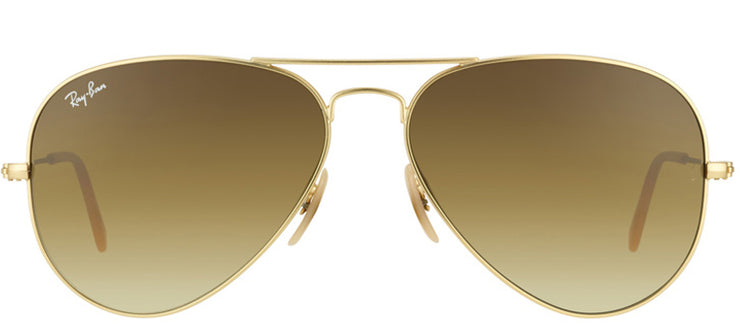 Ray-Ban RB 3025 112/85 Aviator Metal Gold Sunglasses with Brown Gradient Lens