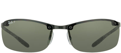 Ray-Ban RB 8305 122/9A Sport Carbon Fiber Black Sunglasses with Green Polarized Lens