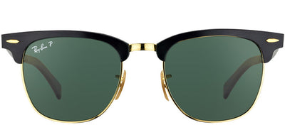 Ray-Ban RB 3507 136/N5 Aluminum Clubmaster Plastic Black Sunglasses with Green Polarized Lens