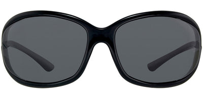 Tom Ford Jennifer TF 8 01D Fashion Plastic Black Sunglasses with Grey Polarized Lens