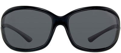 Tom Ford Jennifer TF 8 199 Fashion Plastic Black Sunglasses with Grey Lens