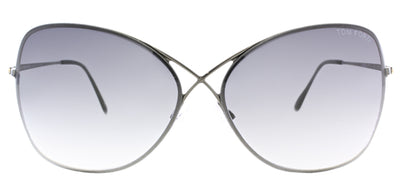 Tom Ford Collete TF 250 08C Fashion Metal Black Sunglasses with Grey Gradient Lens