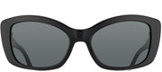 Prada PR 03NS 1AB1A1 Cat-Eye Plastic Black Sunglasses with Grey Lens