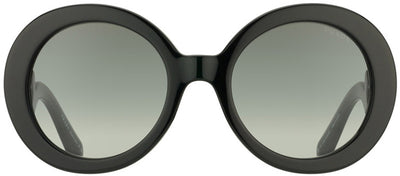 Prada Minimal Baroque PR 27NS 1AB3M1 Round Plastic Black Sunglasses with Grey Gradient Lens