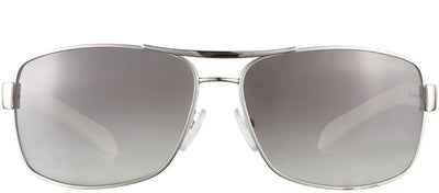 Prada Linea Rossa PS 54IS 1BC3M1 Aviator Metal Gold Sunglasses with Grey Gradient Lens