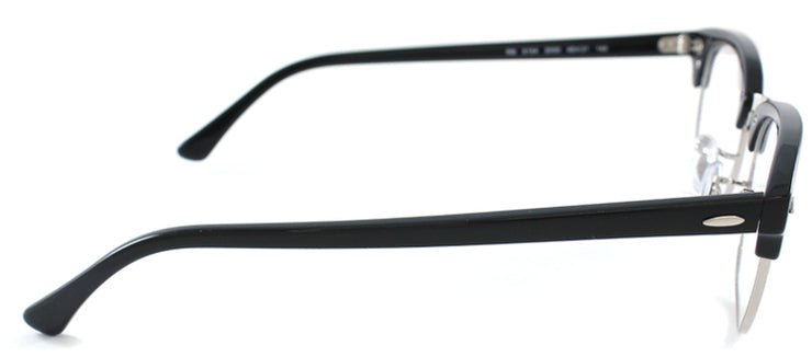 Ray-Ban RX 5154 2000 Clubmaster Plastic Black Eyeglasses with Demo Lens