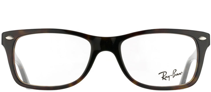Ray-Ban RX 5228 2012 Rectangle Plastic Tortoise/ Havana Eyeglasses with Demo Lens