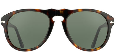 Persol Suprema PO 649 24/31 Aviator Plastic Tortoise/ Havana Sunglasses with Green Lens
