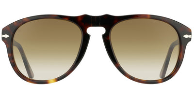 Persol Suprema PO 649 24/51 Aviator Plastic Tortoise/ Havana Sunglasses with Brown Gradient Lens