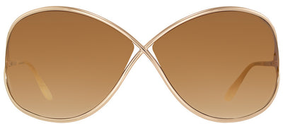 Tom Ford Miranda TF 130 28F Fashion Metal Gold Sunglasses with Brown Gradient Lens