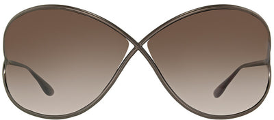 Tom Ford Miranda TF 130 36F Fashion Metal Brown Sunglasses with Brown Gradient Lens
