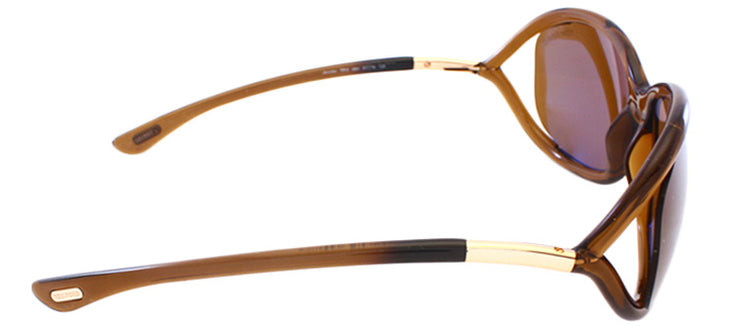 Tom Ford Jennifer TF 8 48H Fashion Plastic Brown Sunglasses with Brown Polarized Lens