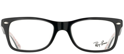 Ray-Ban RX 5228 5014 Rectangle Plastic Black Eyeglasses with Demo Lens