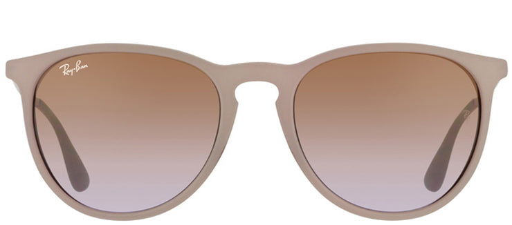 Ray-Ban RB 4171 600068 Oval Plastic Brown Sunglasses with Brown Gradient Lens
