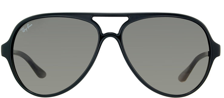 Ray-Ban RB 4125 601/32 Aviator Plastic Black Sunglasses with Grey Gradient Lens