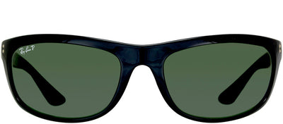 Ray-Ban Balorama RB 4089 601/58 Sport Plastic Black Sunglasses with Grey / Green Polarized Lens